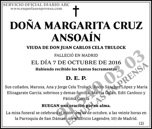 Margarita Cruz Ansoaín